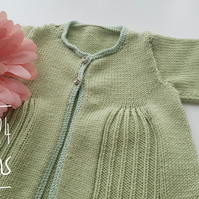 Pleat Effect Baby Cardigan