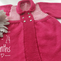 Pink Baby Cardigan - 12 - 24 months