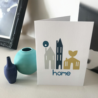 'Little Houses' New Home Card