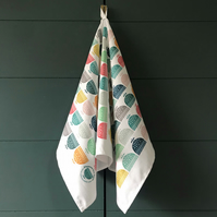 'Little Rainbow Flowers' tea towel