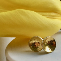 'tulip' ecosilver domes with 23.5c gold keum boo