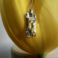 Handmade ecosilver pendant necklace with 23.5c gold detail