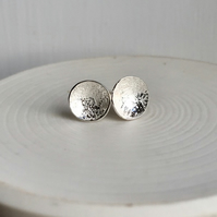 ecosilver textured domed studs