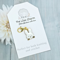 White Rabbit Stitch Marker