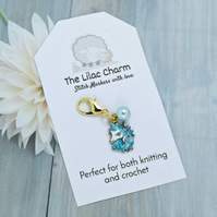 Blue Unicorn Head Stitch Marker