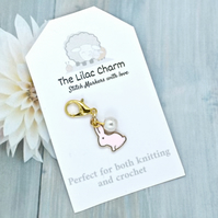 Pink Rabbit Stitch Marker