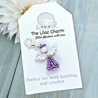 Angel Stitch Marker - Purple
