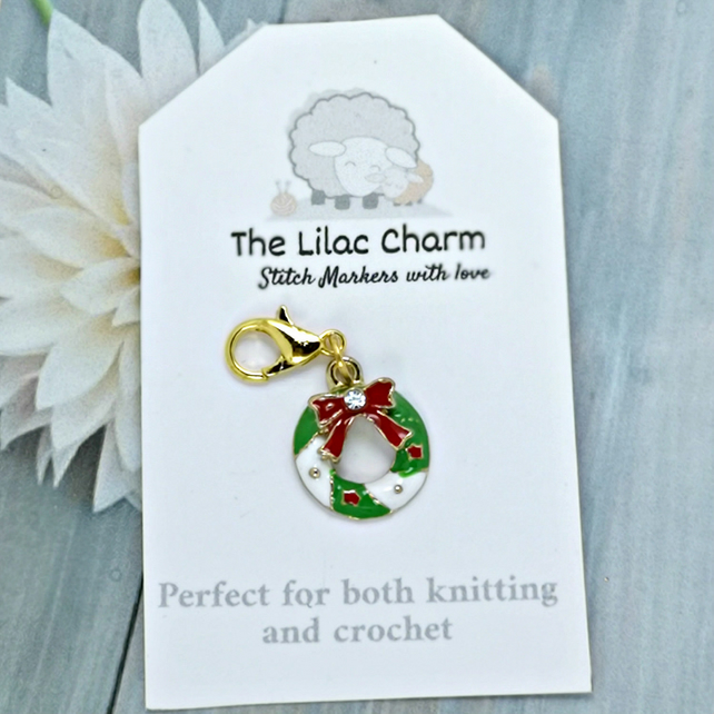 Christmas Wreath Stitch Marker