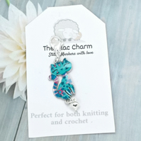 Turquoise Cat Stitch Marker
