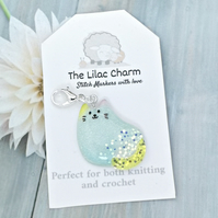 Glittery Cat Stitch Marker