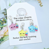 Kawaii Shooting Star Stitch Marker