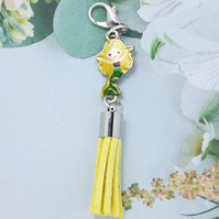 Mermaid Tassel Bag Charm - Yellow