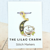 Cat Moon Stitch Marker