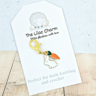 Bunny and Carrot Stitch Marker