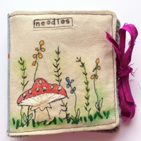 Embroidered Needle Book Case