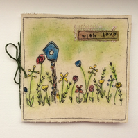 Handmade Embroidered Card Any Occasion