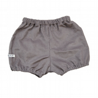 Unisex Baby Bloomers in Grey Corduroy
