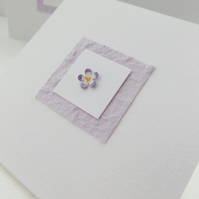 Small Square Simple Card, Any Occasion