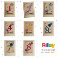 Childrens NAME Birthday Card - 1st to 9th Happy Birthday Cards - Choice of Ages