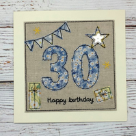 30th - Age 30 Birthday Card - Age 30 to 39 Card - Personalized Card - 40th Card
