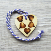 Heart - Mini hanging decoration – Love token - Tag – Hearts