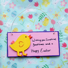 Easter plaque - Happy Easter