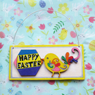 Happy Easter sign - Carnival