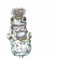 Brand New Frog Prince Greeting card