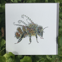 Brand new Flower Bee Greeting card