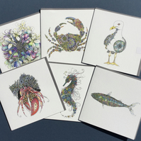 Costal inspired Greeting card bundle