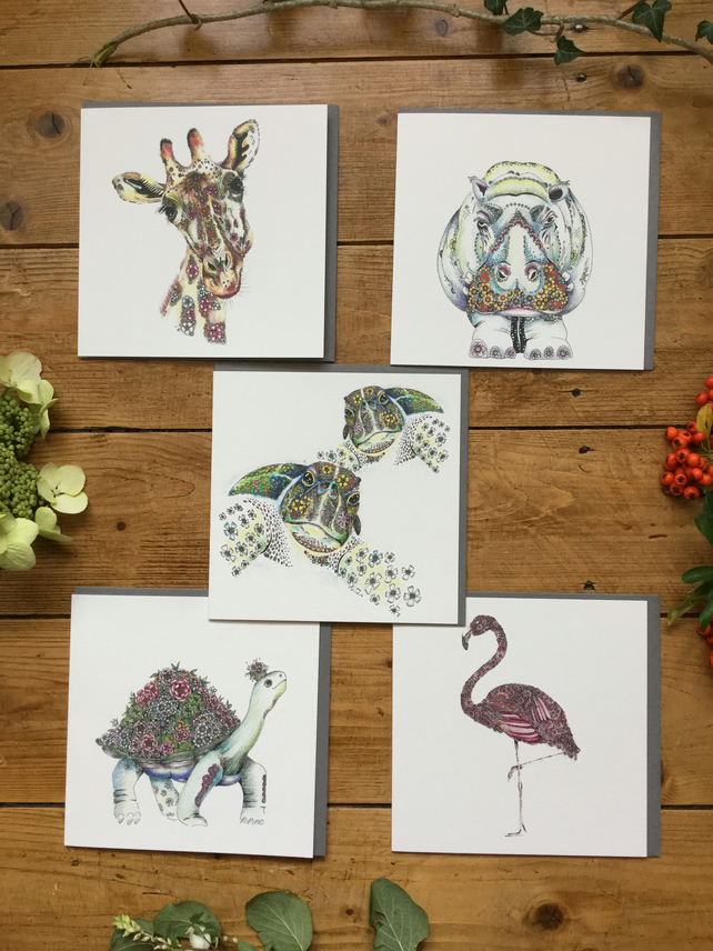 Brand new 'Wild' mixed greeting card pack