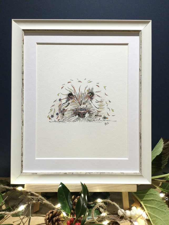 Framed Cockapoo Art Print