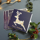 Christmas Leaping Stag x 6 pack