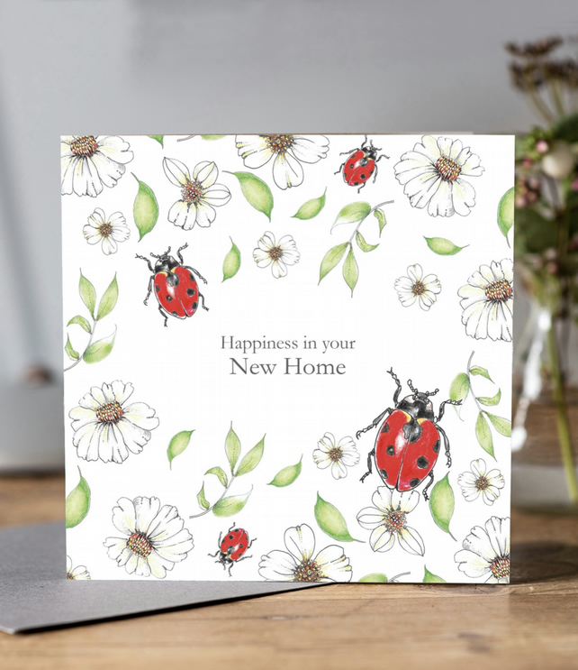 Happiness in your new home greeting card