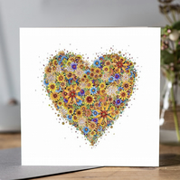 Sunshine Heart greeting card