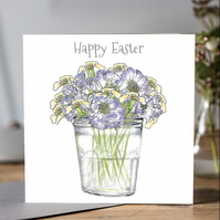 Easter posy greeting card