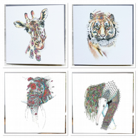 Wild animal top draw bundle of 4 designs