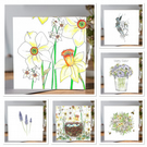 Easter Bundle of 6 different greeting card designs