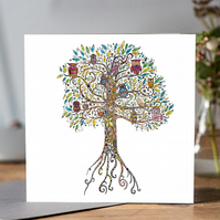 Owl Tree Greeting card