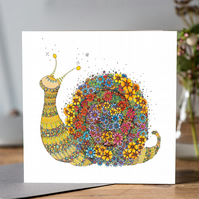 Cicely the Snail Greeting card