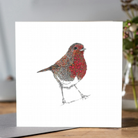 A Robin is not just for Christmas Greeting card