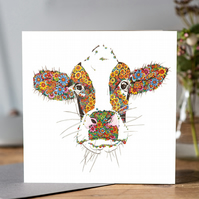 Marigold the Cow Greeting card