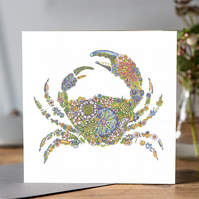 Coastal Britain Large Crab Blank Card