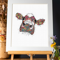 'Primrose the Cow' Art Print