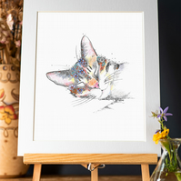 Beautiful Cat Art Print