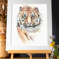 "Bengal Tiger limited edition Art Print 12"" x 10"""