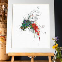 Ruby Tailed Wasp  Art Print
