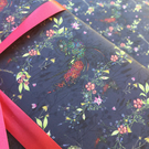 Ruby Tailed wasp gift wrap (dark)