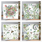 Mixed pack of 4 Botanical Greeting cards