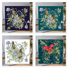4 x mixed Botanical Greeting cards